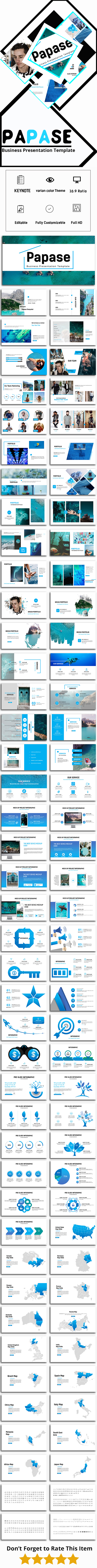 Papase - Business Keynote Template - Business PowerPoint Templates