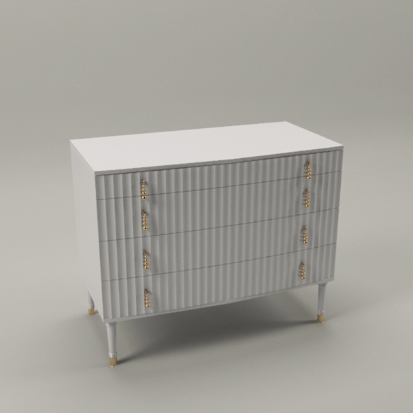 Elegant chest with drawers - 3DOcean Item for Sale