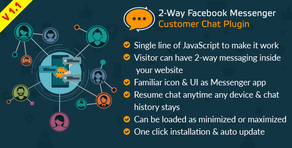 2-Way Facebook Messenger Customer Chat Plugin for Your Website : A FB Inboxer Add-on - CodeCanyon Item for Sale