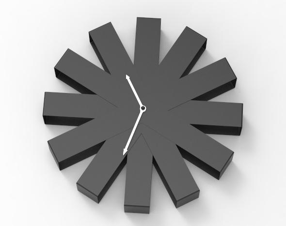 Geometry clock - 3DOcean Item for Sale