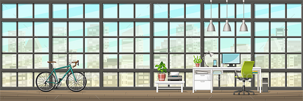 Modern Home Office - Miscellaneous Vectors