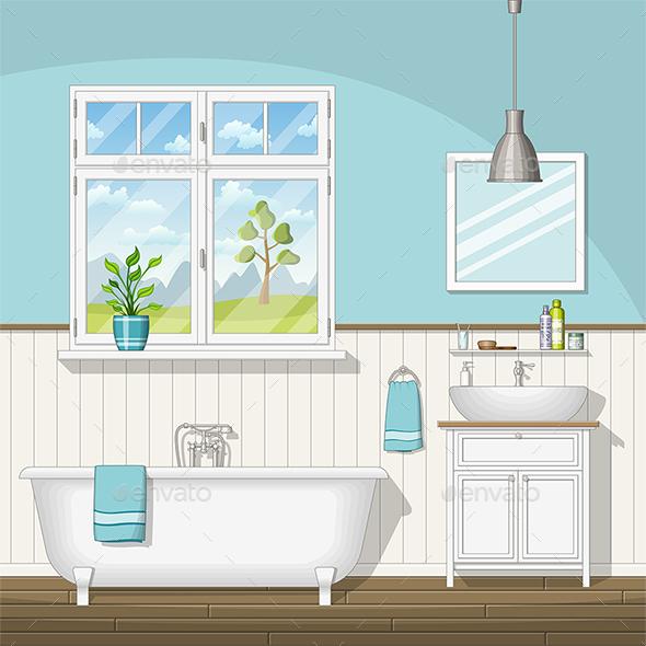 Modern Bathroom - Miscellaneous Vectors