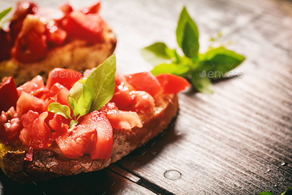 Βruschetta on a table - Stock Photo - Images