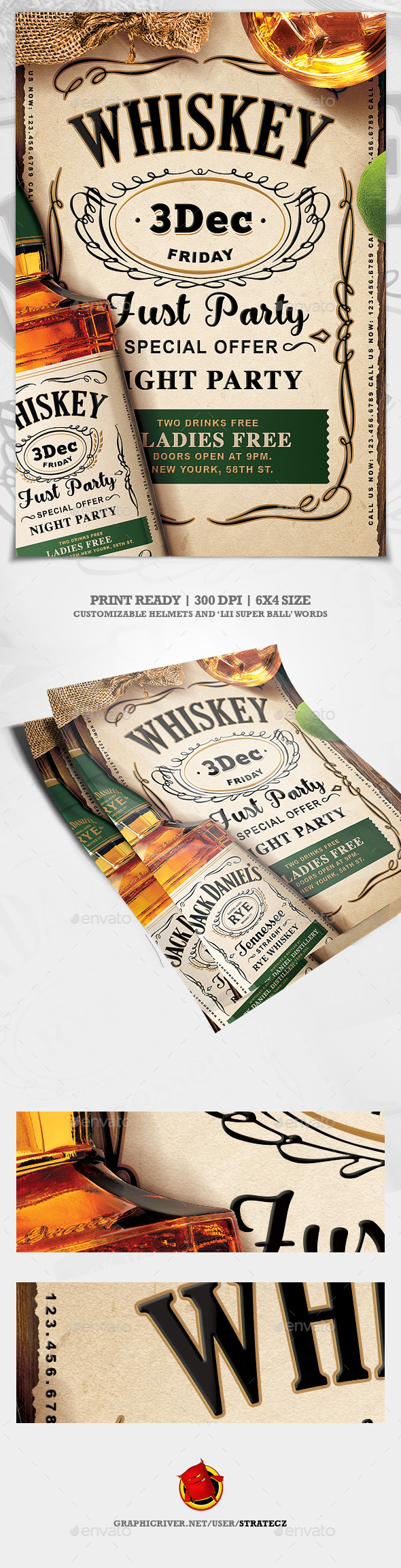 Whiskey Flyer - Events Flyers