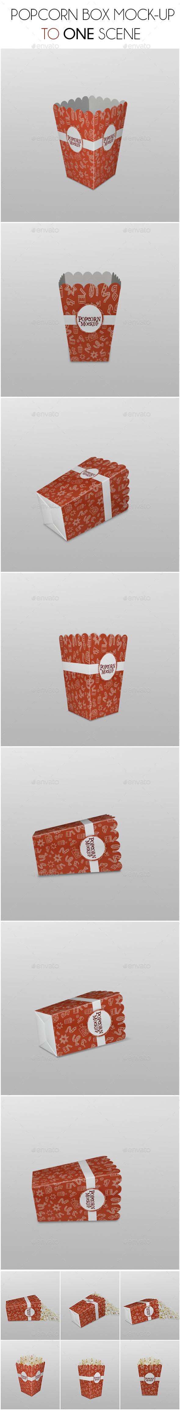 Popcorn Box Mockup - Product Mock-Ups Graphics