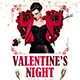 Valentine's Night Party Flyer - GraphicRiver Item for Sale