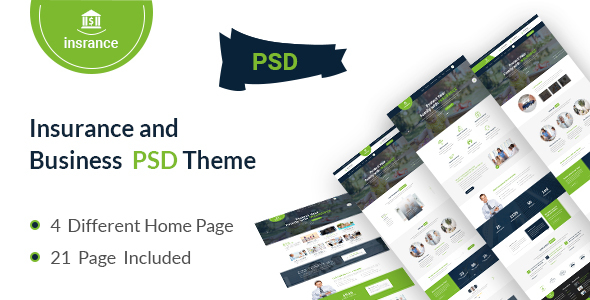 Insurance /  Business  PSD Template