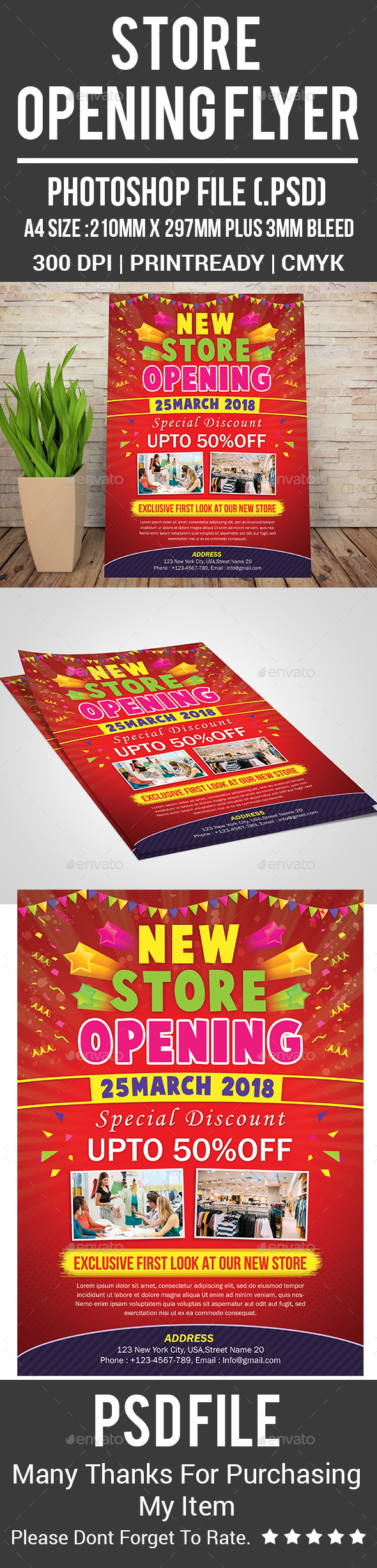 Store Opening Flyer - Corporate Flyers