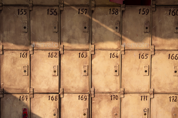 Old public lockers - Stock Photo - Images
