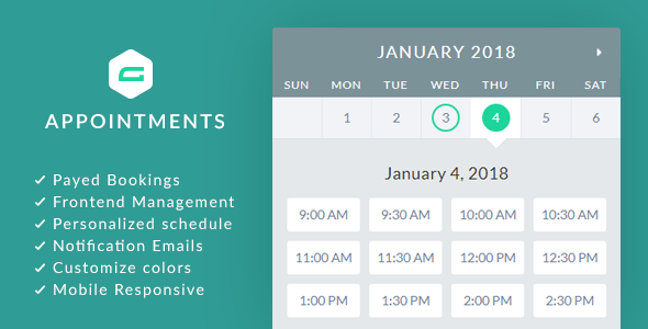 CodeCanyon gAppointments Appointment booking addon for Gravity Forms 21216523