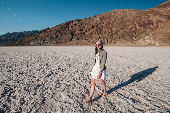 Tourist in Death Valley National Park - Stock Photo - Images