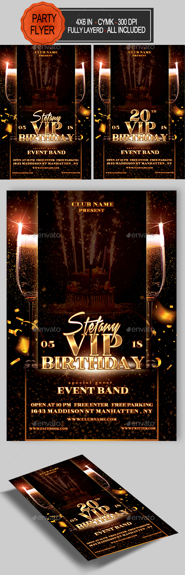 VIP Birthday Flyer - Clubs & Parties Events