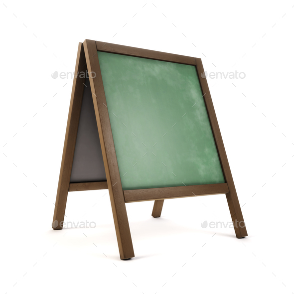 3d illustration of school blackboard over white background - Stock Photo - Images