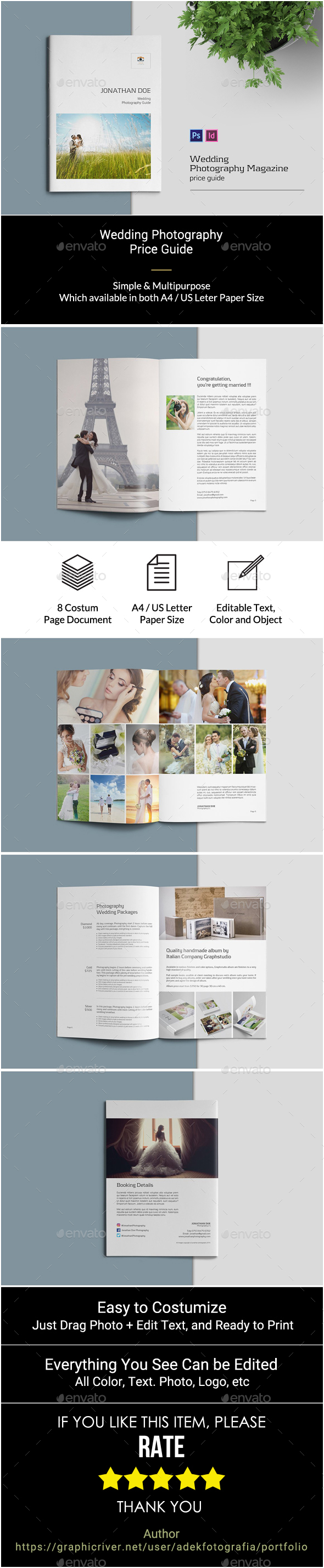 Wedding Photography Pricing Guide - Photo Albums Print Templates