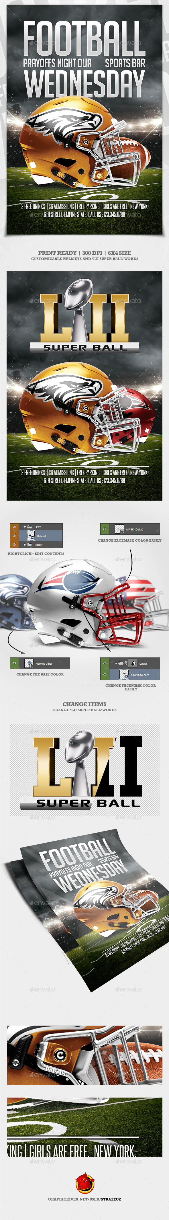 American Football Flyer - Print Templates