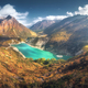 Himalayan mountains and lake with turquoise water at sunset - PhotoDune Item for Sale