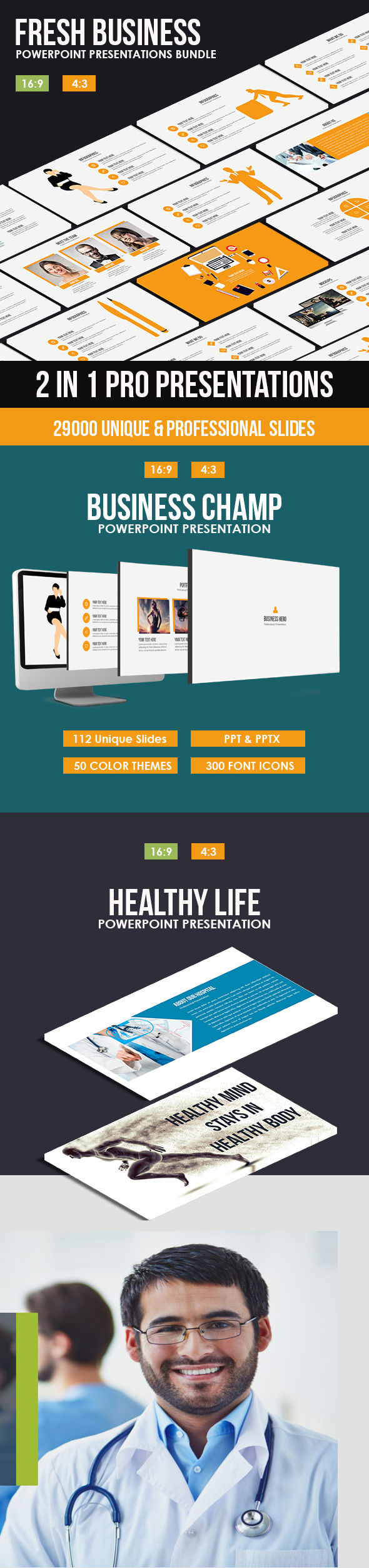Fresh Business Powerpoint Bundle - Business PowerPoint Templates