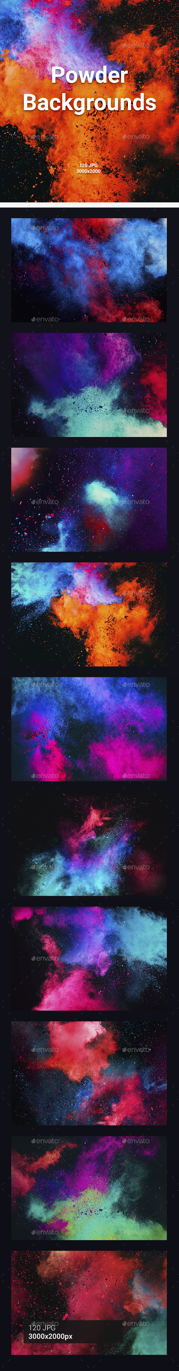 120 Powder Backgrounds - Abstract Backgrounds
