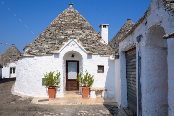 Trulli houses in Alberobello town - Stock Photo - Images