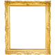 Gold decorative picture frame isolated on white - PhotoDune Item for Sale