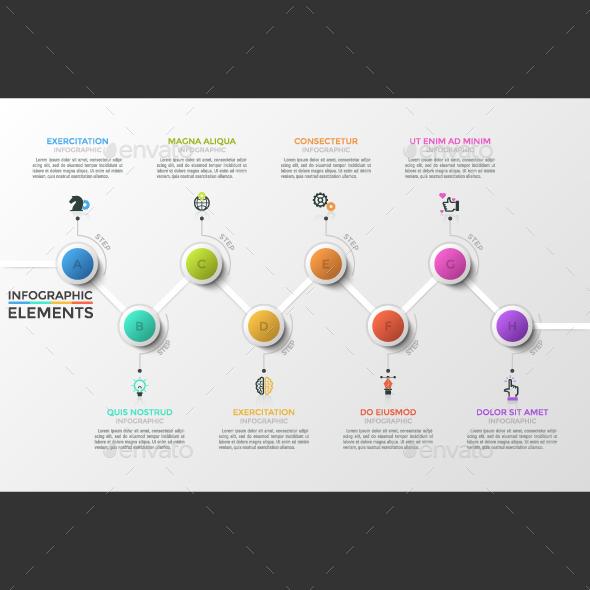 8-Step Modern Infographic Timeline - Infographics
