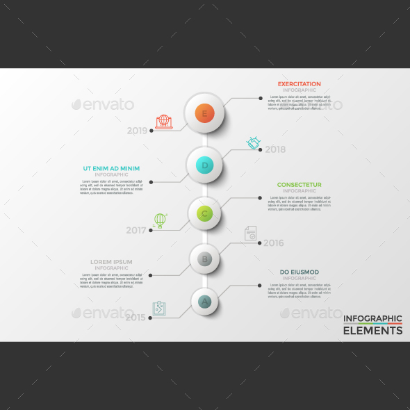 Modern Circle Timeline Infographic - Infographics