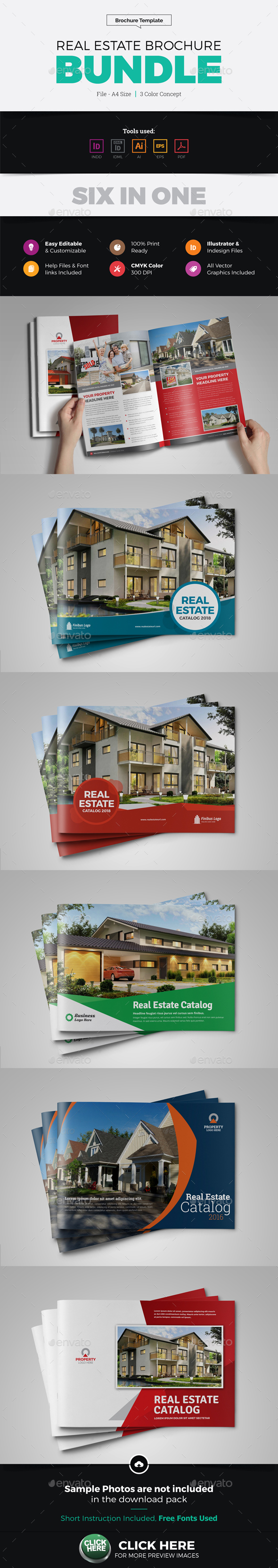 Real Estate Brochure Catalog Bundle - Corporate Brochures
