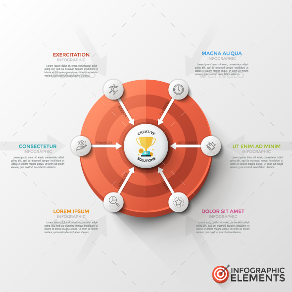 Modern Infographic Target Marketing Concept - Infographics