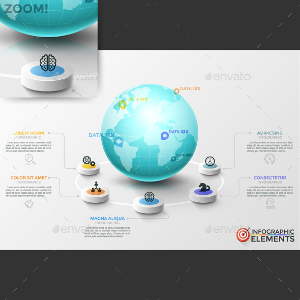 Modern Global Infographic Template - Infographics