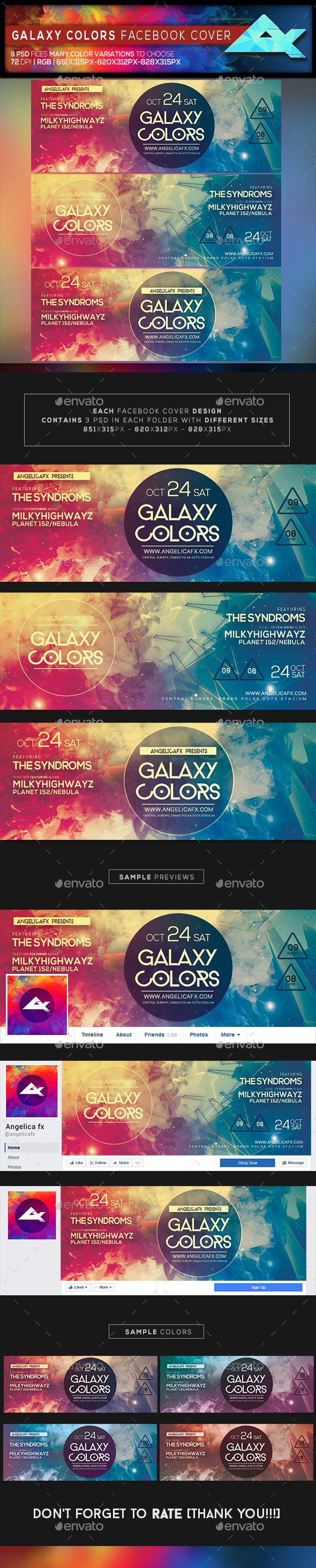 Galaxy Colors Facebook Cover - Facebook Timeline Covers Social Media