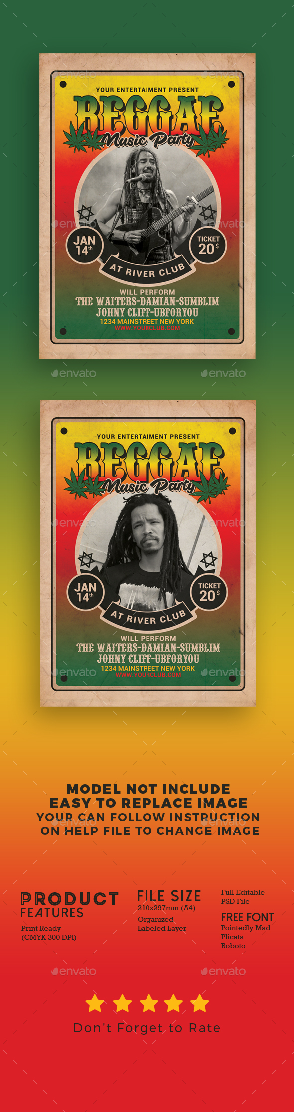 Reggae Music Flyer - Events Flyers