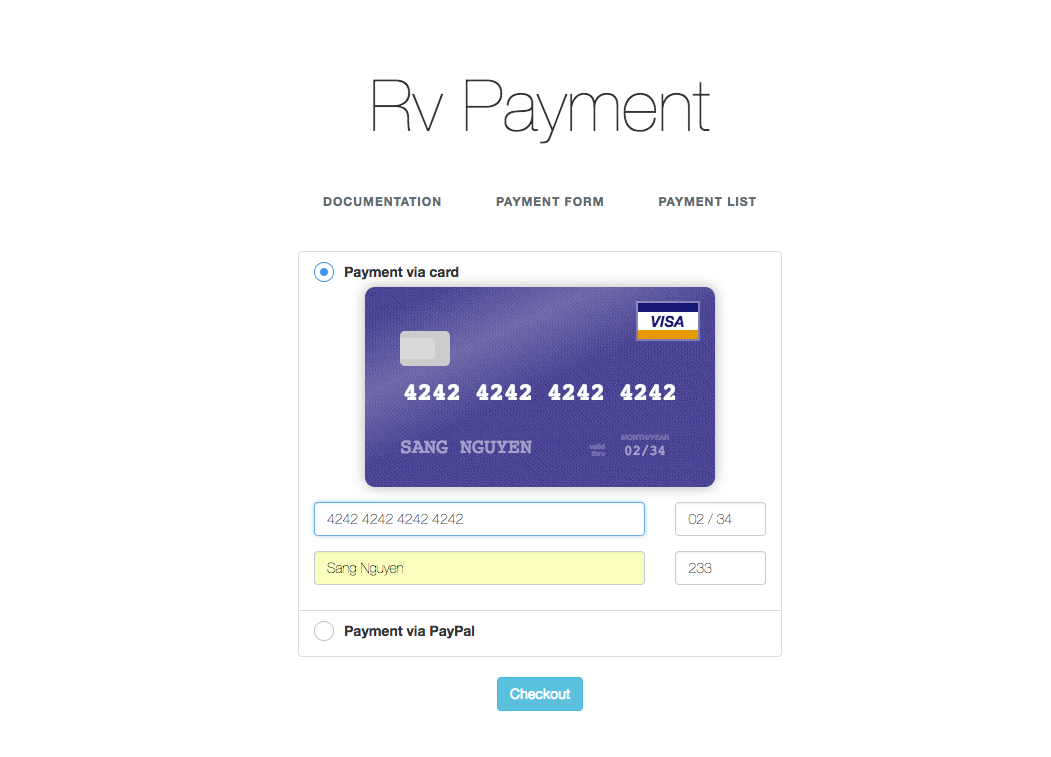 RvPayment - Laravel payment package with Stripe & PayPal