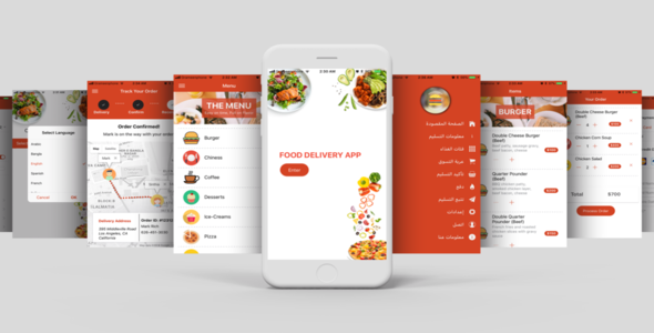 Restaurant Food Delivery Template UI App Supports Multiple Language i18n - CodeCanyon Item for Sale