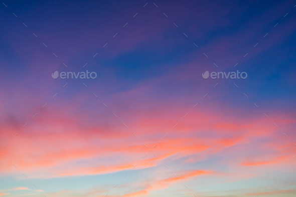 Beautiful sky at twilight - Stock Photo - Images