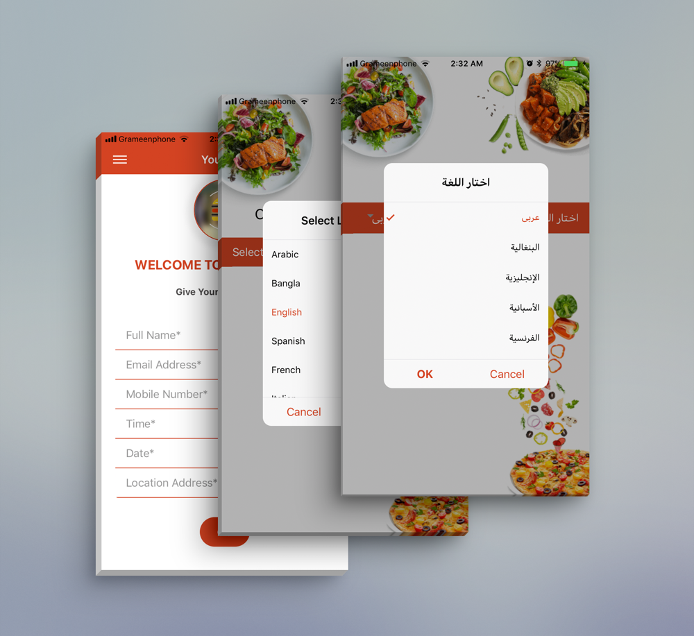 Restaurant Food Delivery Template UI App Supports Multiple Language ...