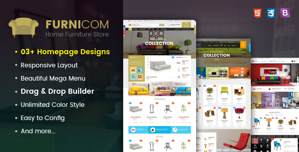Image of Furnicom - Responsive Drag & Drop Shopify Furniture Theme