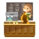 Young Barista Making a Cup of Coffee - GraphicRiver Item for Sale