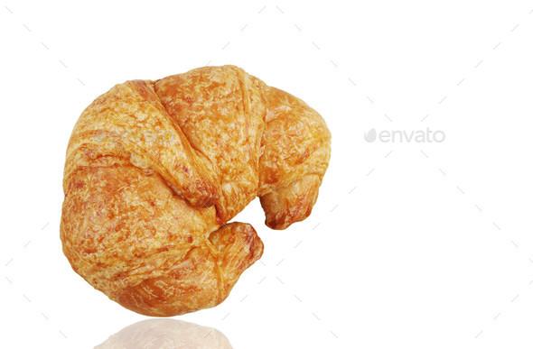 croissant on white background - Stock Photo - Images