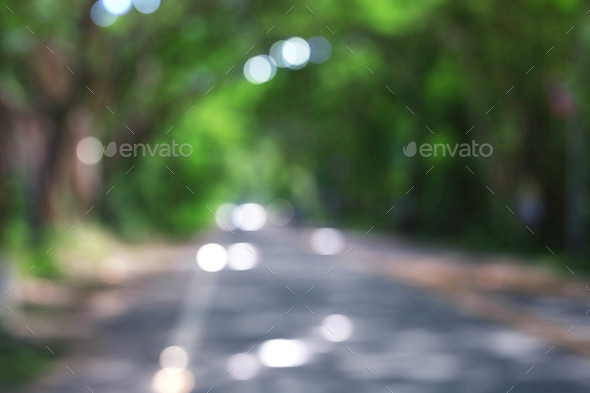 Road with background blurred - Stock Photo - Images