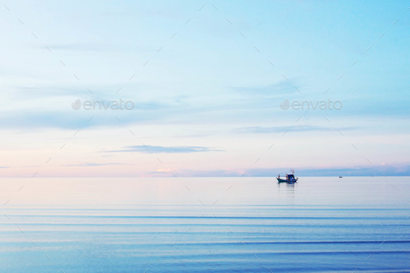 Sea with the blue sky - Stock Photo - Images