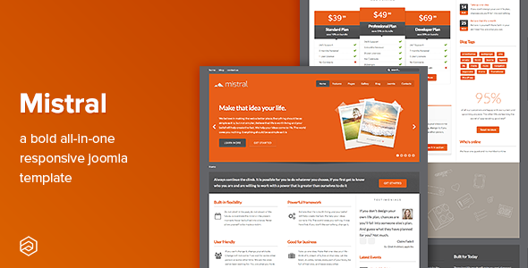 Mistral - Business Responsive Joomla Template - Corporate Joomla