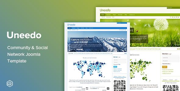 Uneedo - Community & Social Network Responsive Joomla Template - Joomla CMS Themes