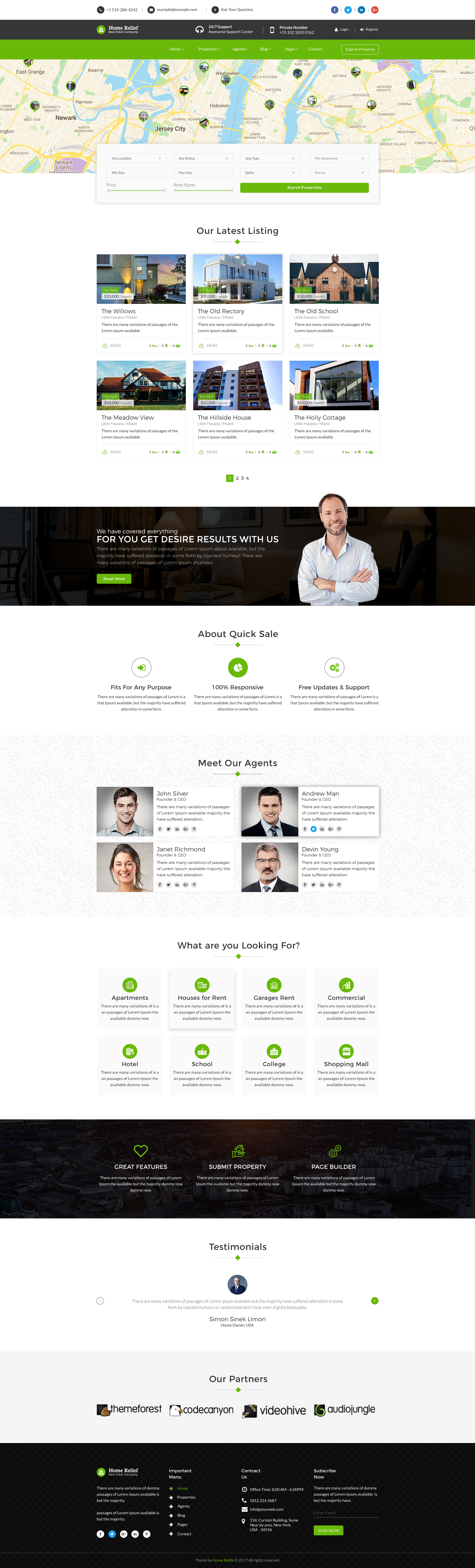 Wonderful Theme Preview Set/00 Preview Image Theme Preview Set/01 Home Relief Home  Page 1 ...