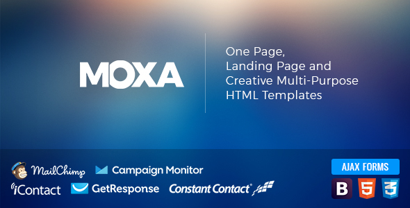 ThemeForest MOXA One Page Landing Page and Creative Multi-Purpose HTML Templates 21092230