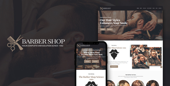 BarberShop | HTML Template For BarberShop & Hair Salon - Health & Beauty Retail