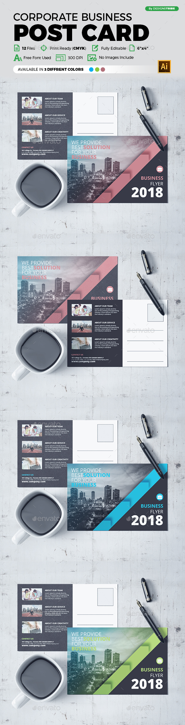 Post Card Design - Cards & Invites Print Templates