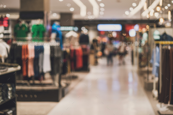 abstract blurred background of Department store - Stock Photo - Images