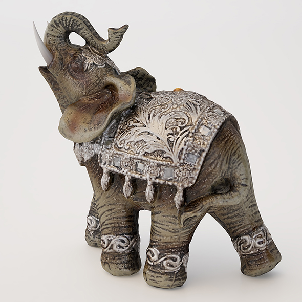 Elephant Ornament - 3DOcean Item for Sale