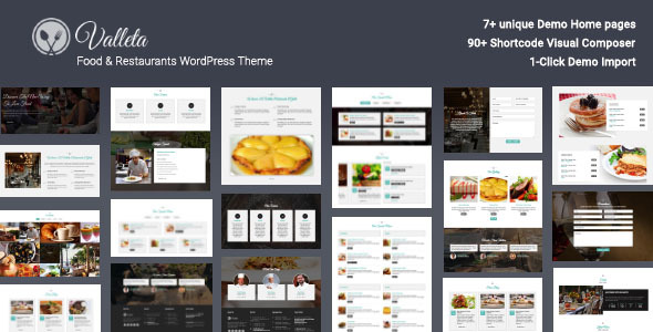 ThemeForest Valleta Food & Restaurants WordPress Theme 21070095