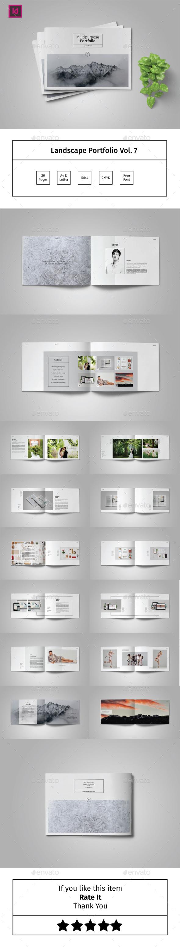 Multipurpose Landscape Portfolio Template Vol.7 - Portfolio Brochures